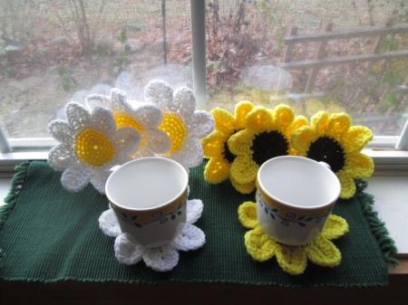 Sunflower or Daisy Coasters