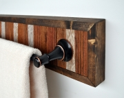 Towel Holder Bar Framed in Pine with Bronze Hardware