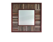 Barn Wood Beveled Edge Mirror  Square