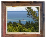 Canvas Print Lighthouse Straits of Mackinac