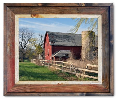 Canvas Print Barn Fence