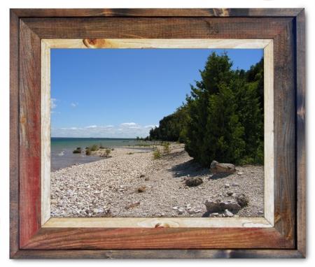 Canvas Print Mackinac Island Shoreline