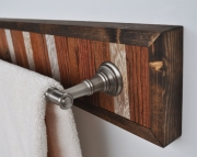 Towel Holder Bar Framed in Pine with Nickel Hardware