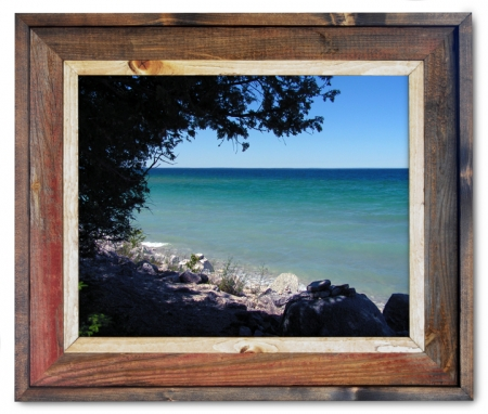 Canvas Print Mackinac Island Shoreline Shade