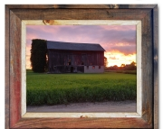 Canvas Print Sunset Barn