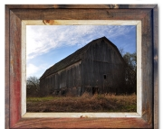 Canvas Print Barn Sky