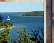Canvas Print Mackinac Straits