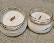 Baby Powder Scented Soy Wax Candle / Crackle Wick / Wood Wick / 11oz