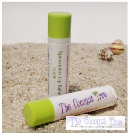 Spearmint Flavored Lip Balm with Stevia
