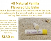 Vanilla Flavored Lip Balm with Stevia