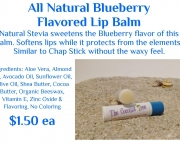 Blueberry Flavored Lip Balm with Stevia