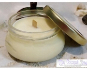 Gardenia Soy Wax Candle / Crackle Wick / Wood Wick / 6oz