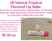 Tropical Flavored Lip Balm with Stevia