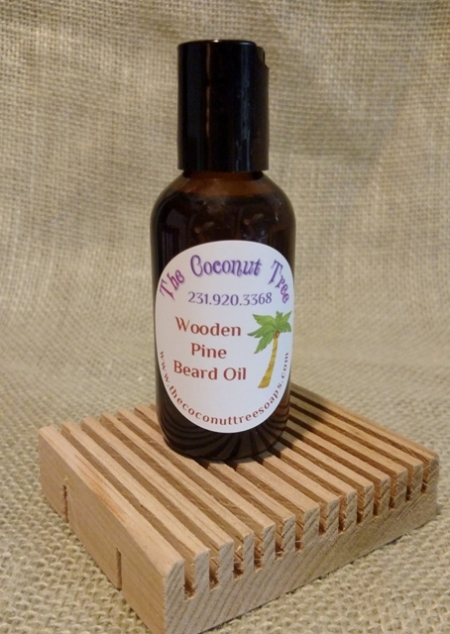 Wooden Pine Beard Oil