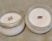 Baby Powder Scented Soy Wax Candle / Crackle Wick / Wood Wick / 6oz