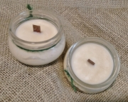 Coconut Scented Soy Wax Candle / Crackle Wick / Wood Wick / 3oz