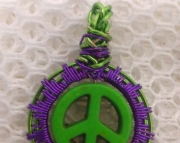 Peace Sign green and purple