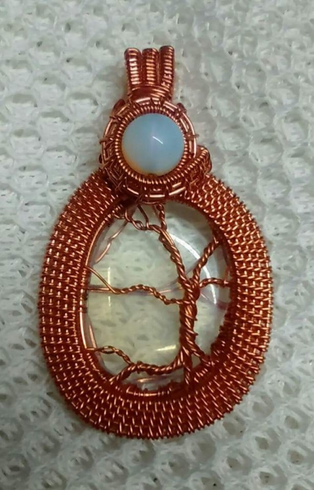 Moonstone and Opalite Tree