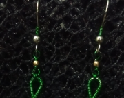 Green Treble Cleft Earrings
