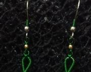 Green Treble Cleft Earrings