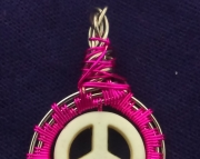 Peace Sign white and pink