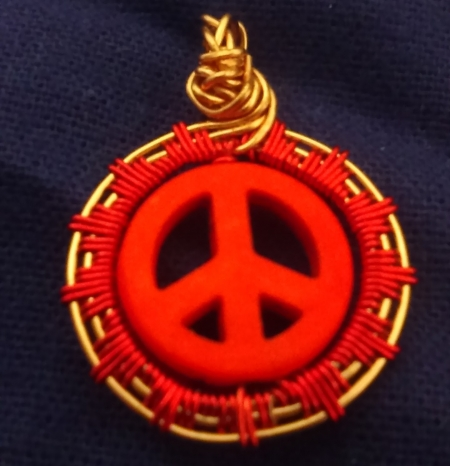 Peace Sign Orange