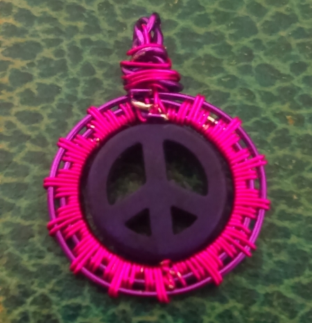 Peace Sign Purple and Pink