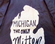Xlarge Michigan the Only Mitten State Tshirt  Navy Blue