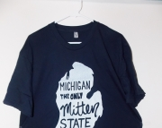 Medium Michigan the ONLY Mitten State TShirt  MED  Navy Blue