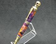 Skull Pen, Handmade Ballpoint Twist Pen