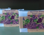 Mackinaw Breeze Fresh Lilac Soap- Goat Milk
