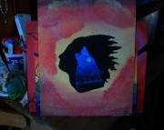 Art Original Acrylic Painting Stars Midnight Decor
