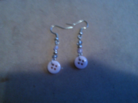 Pink Themed Button Earrings