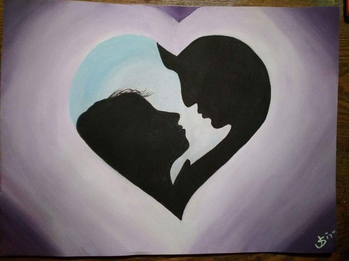Romantic Couple Silhouette Handmade Michigan