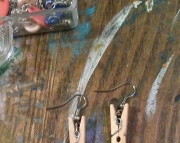 Clothespin earrings