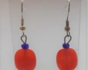 Orange Bead Earrings