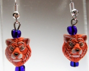Detroit Tiger Head Earrings