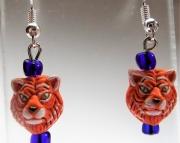 Detroit Tiger Head Earrings