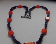 Blue Bead with Tiger head