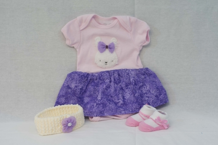 Purple and Pink Baby Dress
