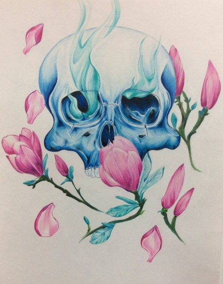Skull and Magnolias