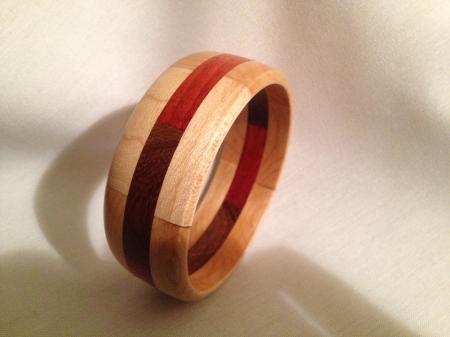 Segmented Wood Bracelet 14