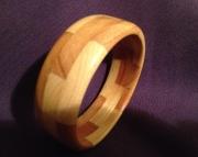 Segmented wood bracelet 12