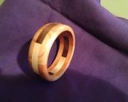 Segmented wood bracelet 8