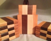 Wood drink coasters, set of 2