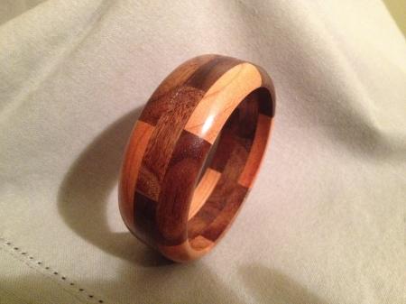 Segmented Wood Bracelet 13