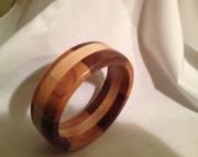 Segmented wood bracelet