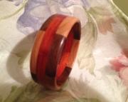 Segmented wood bracelet 11