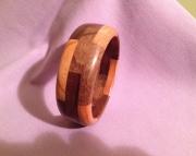 Segmented wood bracelet 10