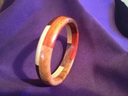 Segmented Wood Bracelet 17